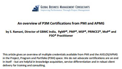 PPM certifications in the industry1451